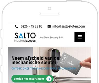 Respnsive website voor de mobiele telefoon