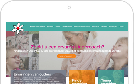 Respnsive website voor de tablet