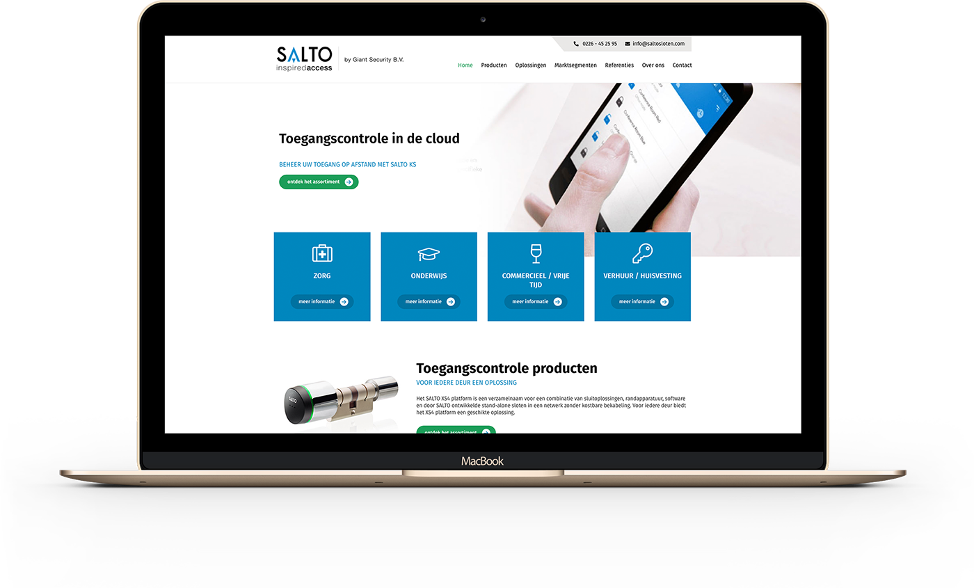 De nieuwe website van Saltosloten.com