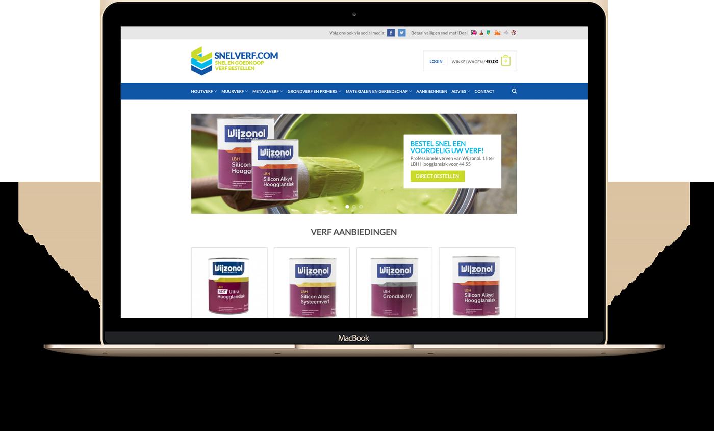 Woocommerce webshop voor Snelverf